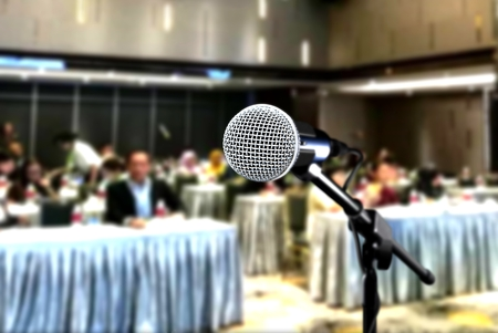 Microphone during seminar conference