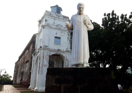 Malacca, Malaysia - January 19,2018 : St. Pauls Church historic church building originally built in 1521 報道画像