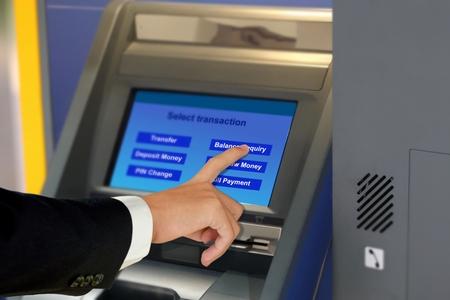 Banking transaction on automatac teller machines