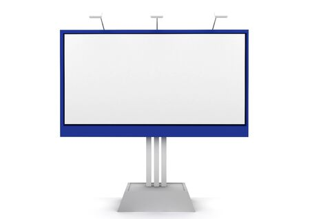 billboard blank: 3D rendered clear billboard isolated on white