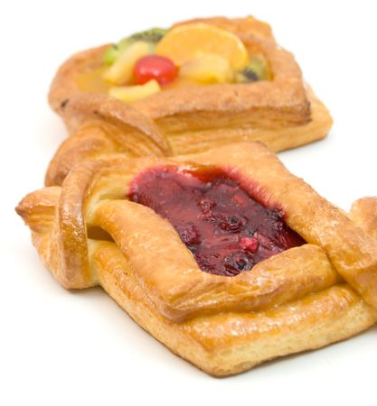 Sweet pastry with fruits Stock Photo