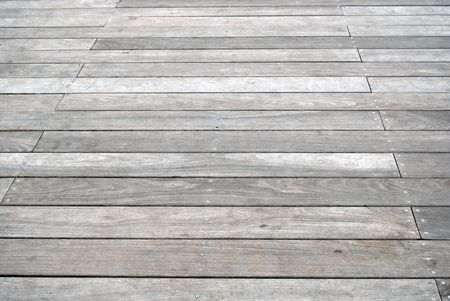 Old grey boardwalk
