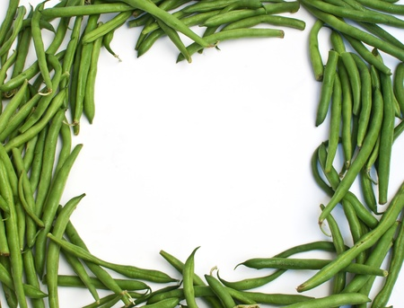 Frame from green beans vegetables  Stock Photo - 14878615
