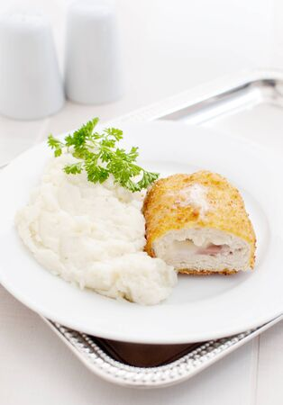 Cordon chicken cutlet  Stock Photo