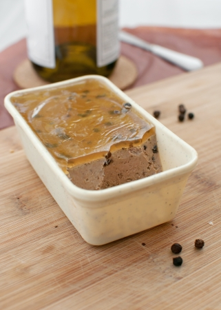 Liver pate with copy space vertical