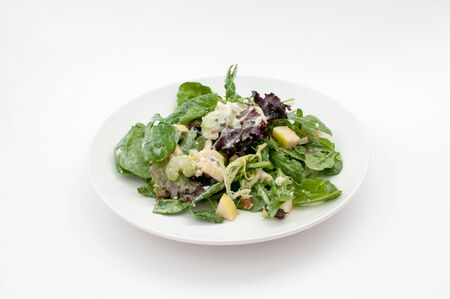 Waldorf green salad isolated horizontal photo