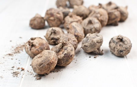asian produce: Asian produce water chestnut vertical