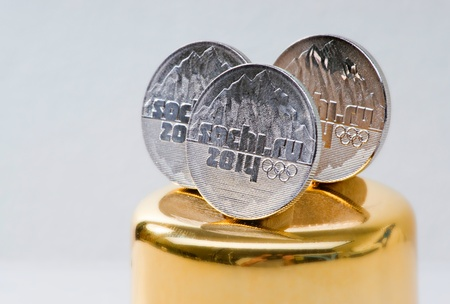 Commemorative coins of XXII Olympic Winter Games in Sochi 2014, Russia