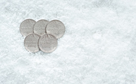 paralympic: Commemorative coins of XXII Olympic Winter Games in Sochi 2014, Russia