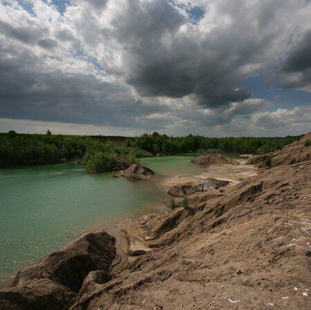 Shot of the green lake Stock Photo - 13852383