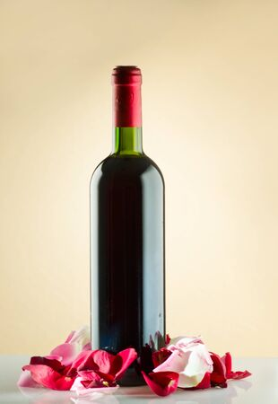 Bottle of red wine photo