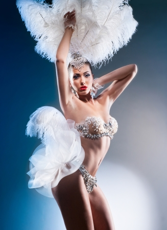 Shot of a cabaret dancer photo