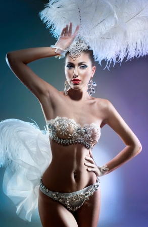Schot van een cabaret danseres