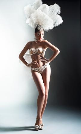 Shot van een cabaret danser