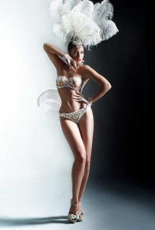 Shot of a cabaret dancer