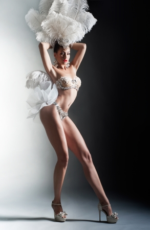 Shot of a cabaret dancer