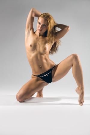 Shot van mooie sexy meisje Stockfoto