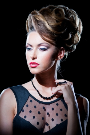 Portrait of beautiful girl with the hairstyle Stock Photo - 14961779