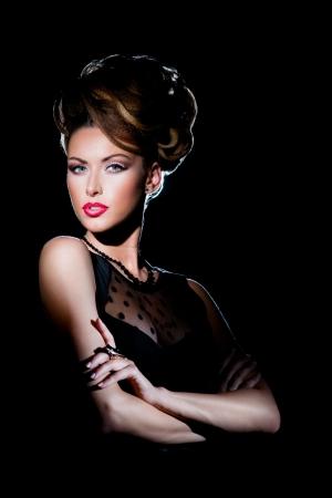 Beautiful woman in evening makeup Stock Photo - 14961774