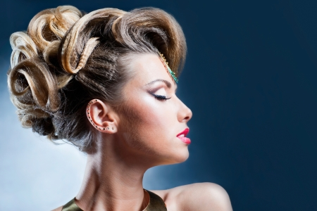Shot of the beautiful female hairstyles