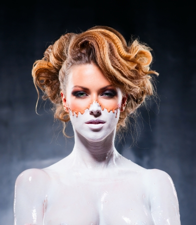 Fantasy makeup of beautiful girl