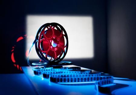 epoch: Bobina di pellicola sullo schermo sfondo