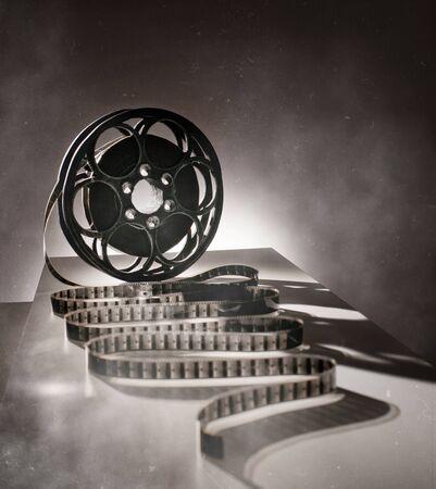 Reel of film in retro style photo