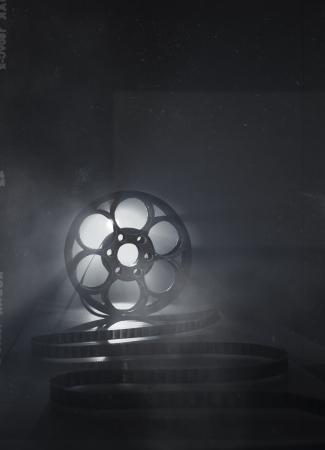 carrete de cine: Negro y blanco de fondo para temas cinematogr�ficos