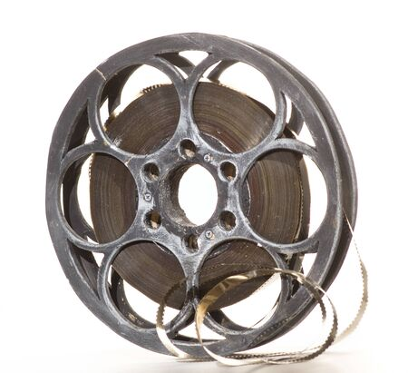 epoch: Reel of film in white background  Stock Photo