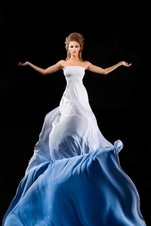 Enchantress in long white dress