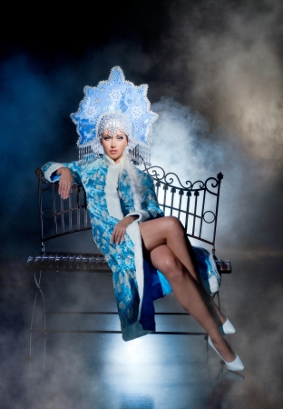 Actress in the role of snow maiden Stock Photo - 16970027