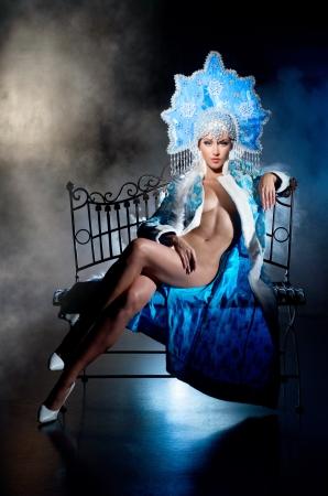 Cabaret dancer in beautiful dress