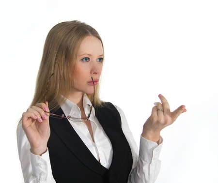 Angry look of the business woman Stock Photo - 17620331