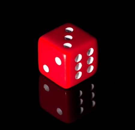 ivories: Red dice on the black background
