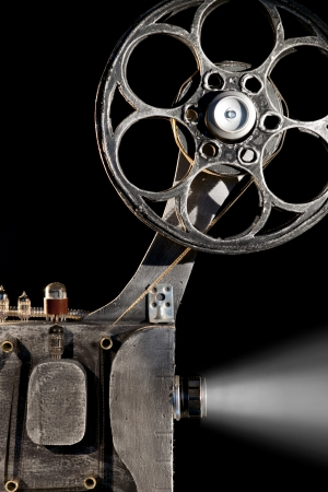 home cinema: Movie projector with the film