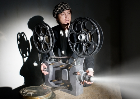 Serious projectionist shows new film photo