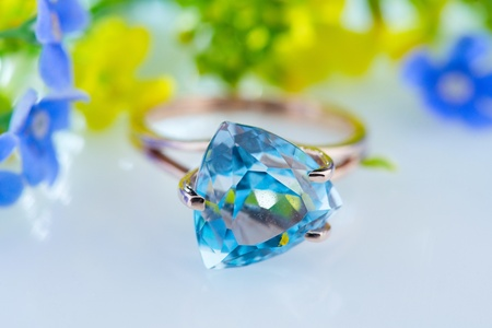 topaz: Beautiful floral background with topaz