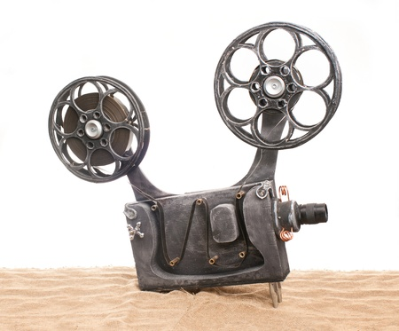 metier: Art movie projector with the film Stock Photo