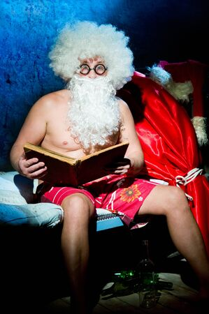 Santa Claus is preparing for Christmas photo