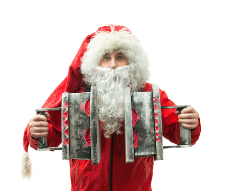 Portrait of Santa Claus with the irons photo