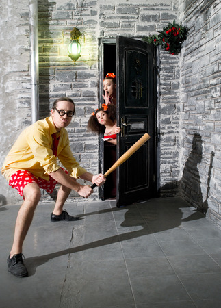 Brave woman protects own home photo