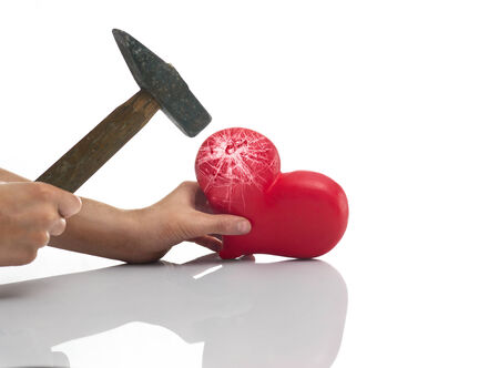 wounded heart: The blow of a hammer on heart