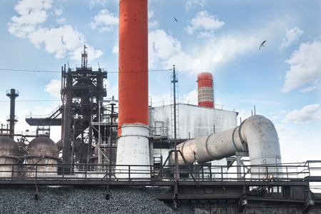 metallurgical: Metallurgical works on a background of clear sky Stock Photo