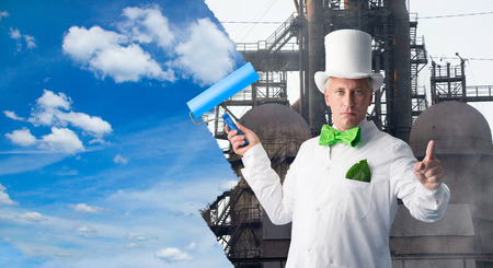Environmentalist improves of the human environment Stock Photo