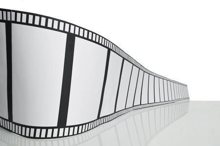 cinematographer: Strip of the film on white background