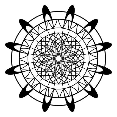 Livro de coloração adulto com a borboleta nas páginas das flores, ilustração do vetor do zentangle para a terapia da arte, cartão, cópia do t-shirt. Design de tatuagem Boho com elementos de doodle