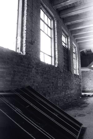 Verlaten oude molen interieur