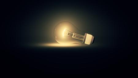 3d illustration of a lightbulb Stockfoto