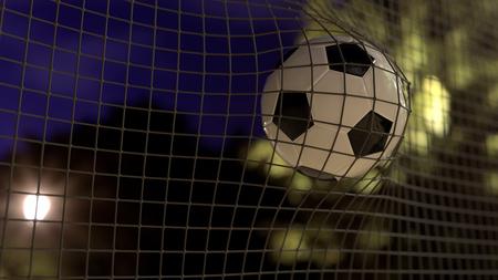 3d illustration of a soccer goal