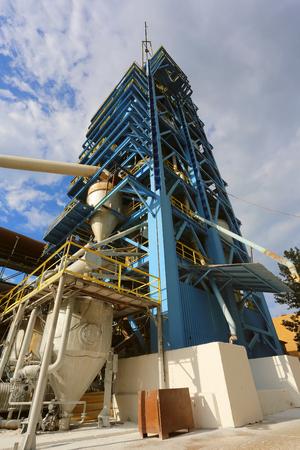 Gas suspension calciner for production of alumina Stockfoto